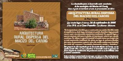 """Paco Tortosa presenta el seu últim llibre: """"Arquitectura Rural dispersa del massís del Caroig"""""""