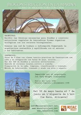 Curso de arquitectura con caña en La Xara (Alicante)