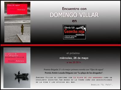 Domingo Villar presenta sus novelas de género policíaco en Valencia