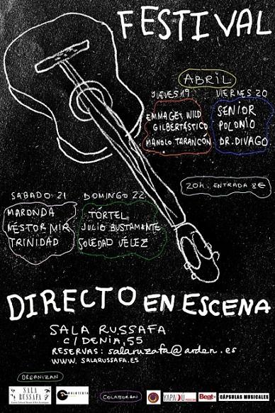 La Sala de Russafa de Valencia vuelve con la música con el festival Directo en Escena