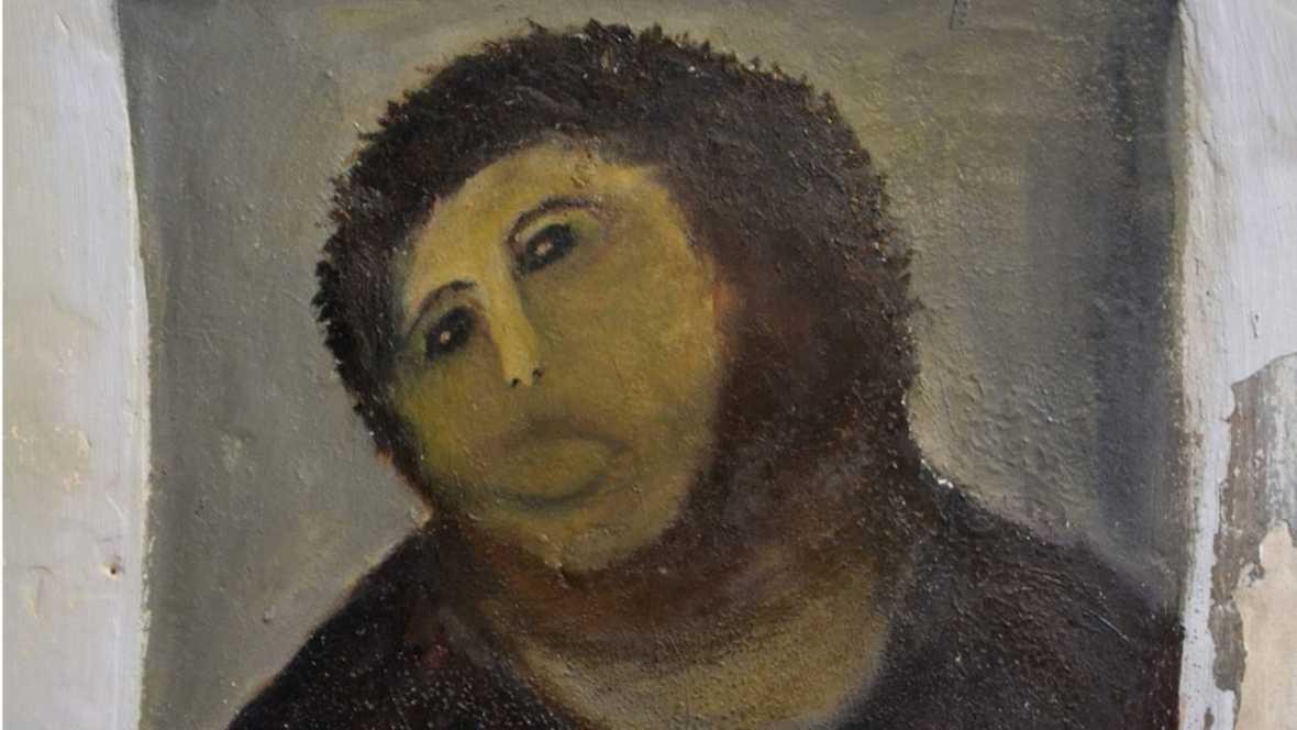 Ecce homo de Borja, reinterpretación de Cecilia Giménez Zueco