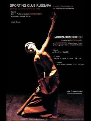 Performance y Taller de Danza Butoh por Sayoko Onishi en Sportingclub y Sala Saltamontes - Valencia