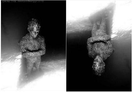 La primera foto de la nueva instalación bajo el agua de Jason de Caires Taylor