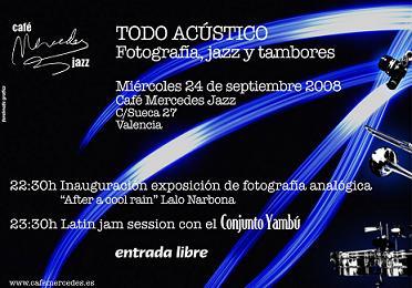 "Lalo Narbona expondrá en Café Jazz Mercedes ""After a cool rain"""
