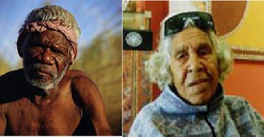 Rover y Queenie. Arte aborigen australiano