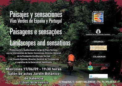 Paco Tortosa presenta su último libro: Paisajes y Sensaciones. Vías Verdes de España y Portugal