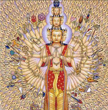 Avalokiteśvara  अवलोकितेश्वर)