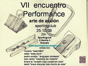 VII Encuentro Performance Arte de Acción en Sporting Club