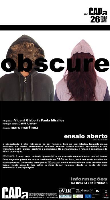 Obscure, un toque teatral valenciano llega a Faro (Portugal)
