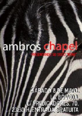 Ambros Chapel presenta su Rome en Zaragoza