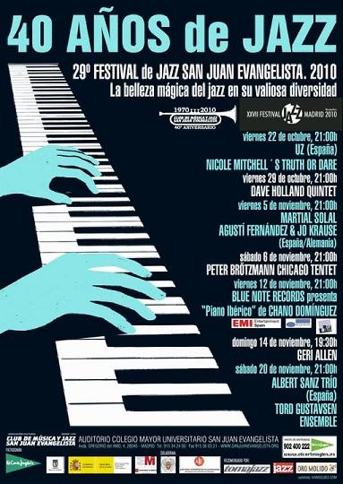 40 años de Jazz.  29º Festival de Jazz San Juan Evangelista de Madrid
