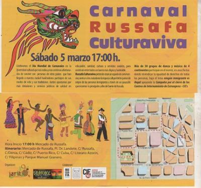 El sábado 5 de marzo Russafa celebra su Carnaval Multicultural