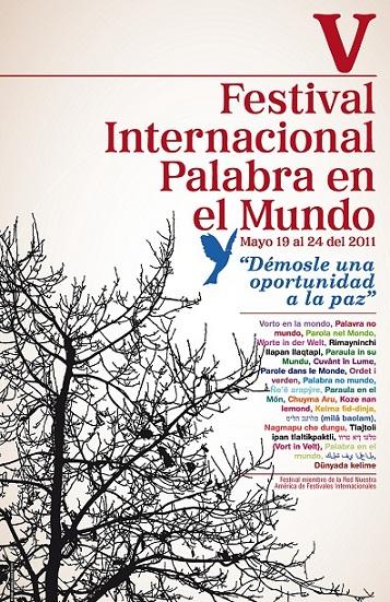 """Del 19 al 24 de mayo: V Festival Internacional de Poesía """"Palabra en el Mundo"""""""