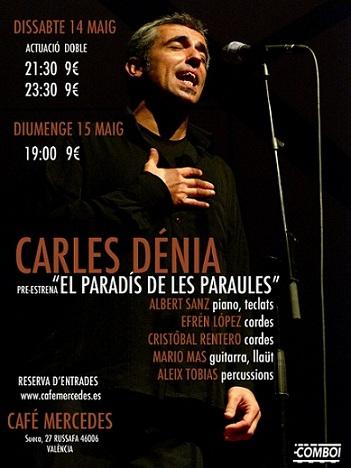 Carles Dénia preestrena El Paradís de les paraules en Ruzafa