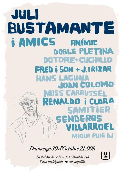 Julio Bustamante recibe un concierto homenaje en Barcelona